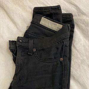 Size 24 rag & bone black skinny jeans